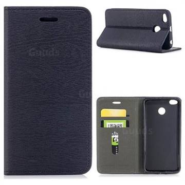Tree Bark Pattern Automatic suction Leather Wallet Case for Xiaomi Redmi 4 (4X) - Black