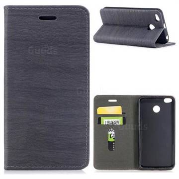 Tree Bark Pattern Automatic suction Leather Wallet Case for Xiaomi Redmi 4 (4X) - Gray