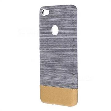 Canvas Cloth Coated Plastic Back Cover for Xiaomi Redmi 4 (4X) - Light Grey