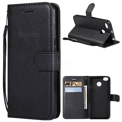 Retro Greek Classic Smooth PU Leather Wallet Phone Case for Xiaomi Redmi 4 (4X) - Black
