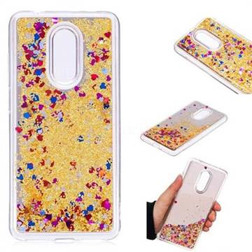 Glitter Sand Mirror Quicksand Dynamic Liquid Star TPU Case for Mi Xiaomi Redmi 5 - Yellow