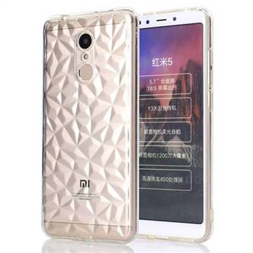 Diamond Pattern Shining Soft TPU Phone Back Cover for Mi Xiaomi Redmi 5 - Transparent