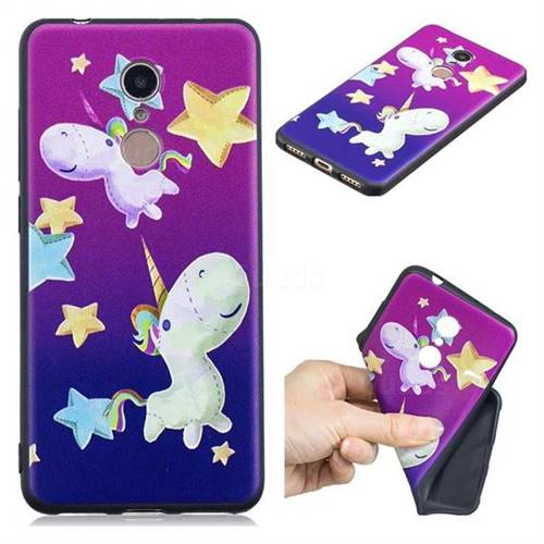 Pony 3D Embossed Relief Black TPU Cell Phone Back Cover for Mi Xiaomi Redmi 5