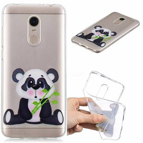 Bamboo Panda Clear Varnish Soft Phone Back Cover for Mi Xiaomi Redmi 5