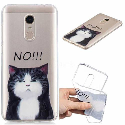 No Cat Clear Varnish Soft Phone Back Cover for Mi Xiaomi Redmi 5