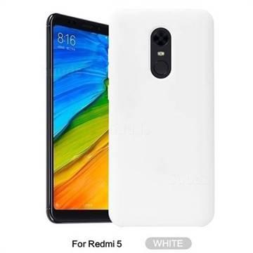 finest selection 54c3a 30a4e Howmak Slim Liquid Silicone Rubber Shockproof Phone Case Cover for Mi  Xiaomi Redmi 5 - White