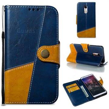 Retro Magnetic Stitching Wallet Flip Cover for Mi Xiaomi Redmi 5 - Blue