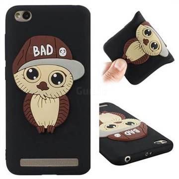 Bad Boy Owl Soft 3D Silicone Case for Xiaomi Redmi 5A - Black