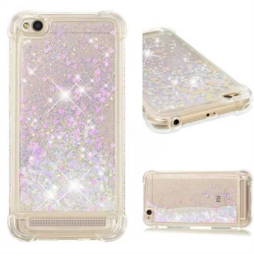 Dynamic Liquid Glitter Sand Quicksand Star TPU Case for Xiaomi Redmi 5A - Pink