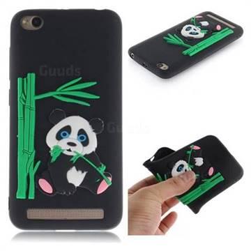 Panda Eating Bamboo Soft 3D Silicone Case for Xiaomi Redmi 5A - Black