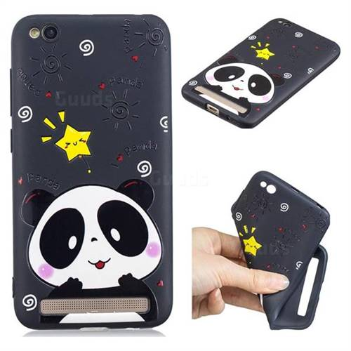 Cute Bear 3D Embossed Relief Black TPU Cell Phone Back Cover for Xiaomi Redmi 5A