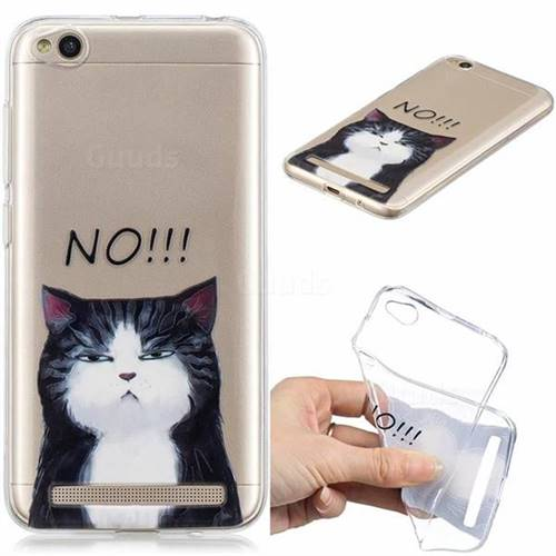 No Cat Clear Varnish Soft Phone Back Cover for Xiaomi Redmi 5A