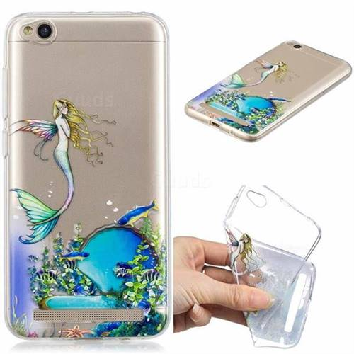 Mermaid Clear Varnish Soft Phone Back Cover for Xiaomi Redmi 5A
