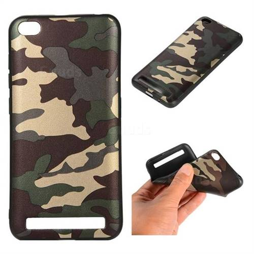 Camouflage Soft TPU Back Cover for Xiaomi Redmi 5A - Gold Green
