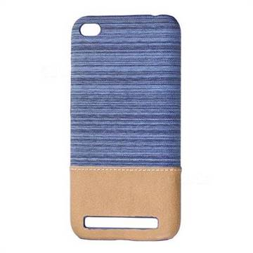 Canvas Cloth Coated Plastic Back Cover for Xiaomi Redmi 5A - Light Blue
