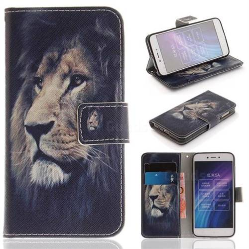 Lion Face PU Leather Wallet Case for Xiaomi Redmi 5A