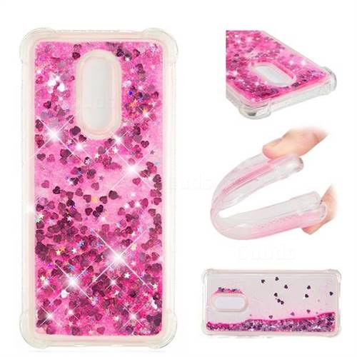 Dynamic Liquid Glitter Sand Quicksand TPU Case for Mi Xiaomi Redmi 5 Plus - Pink Love Heart