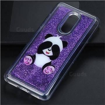 Naughty Panda Glassy Glitter Quicksand Dynamic Liquid Soft Phone Case for Mi Xiaomi Redmi 5 Plus