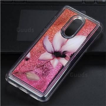 Lotus Glassy Glitter Quicksand Dynamic Liquid Soft Phone Case for Mi Xiaomi Redmi 5 Plus