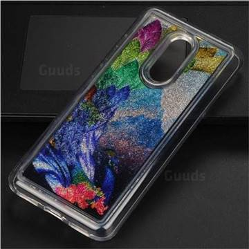 Phoenix Glassy Glitter Quicksand Dynamic Liquid Soft Phone Case for Mi Xiaomi Redmi 5 Plus