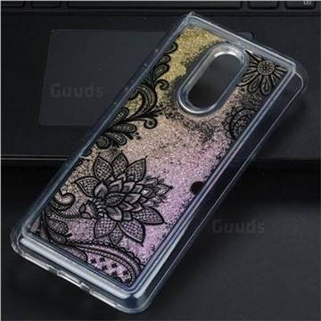 Diagonal Lace Glassy Glitter Quicksand Dynamic Liquid Soft Phone Case for Mi Xiaomi Redmi 5 Plus
