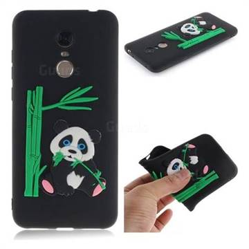 Panda Eating Bamboo Soft 3D Silicone Case for Mi Xiaomi Redmi 5 Plus - Black
