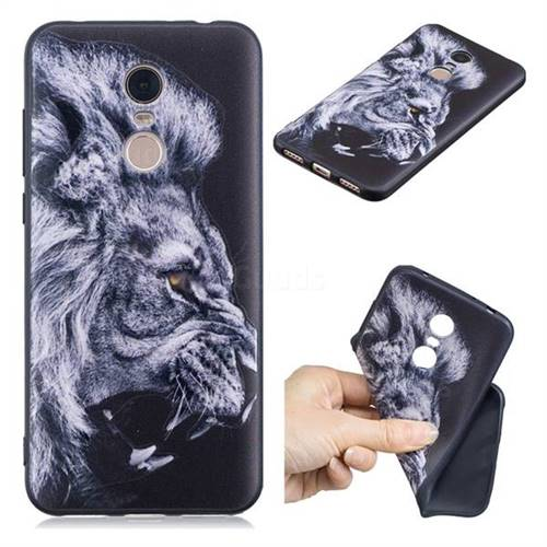 Lion 3D Embossed Relief Black TPU Cell Phone Back Cover for Mi Xiaomi Redmi 5 Plus
