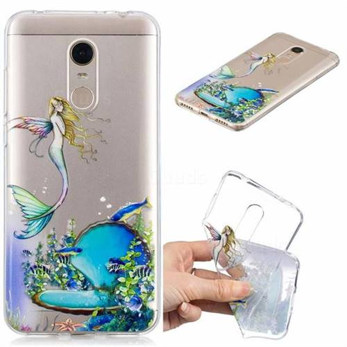 Mermaid Clear Varnish Soft Phone Back Cover for Mi Xiaomi Redmi 5 Plus