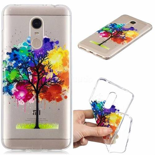Oil Painting Tree Clear Varnish Soft Phone Back Cover for Mi Xiaomi Redmi 5 Plus