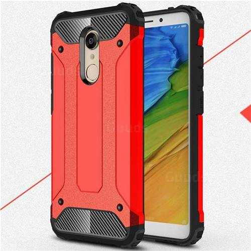new style 45d3f 6bd50 King Kong Armor Premium Shockproof Dual Layer Rugged Hard Cover for Mi  Xiaomi Redmi 5 Plus - Big Red