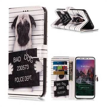 Bad Dog Police Dept PU Leather Wallet Phone Case for Mi Xiaomi Redmi 5 Plus