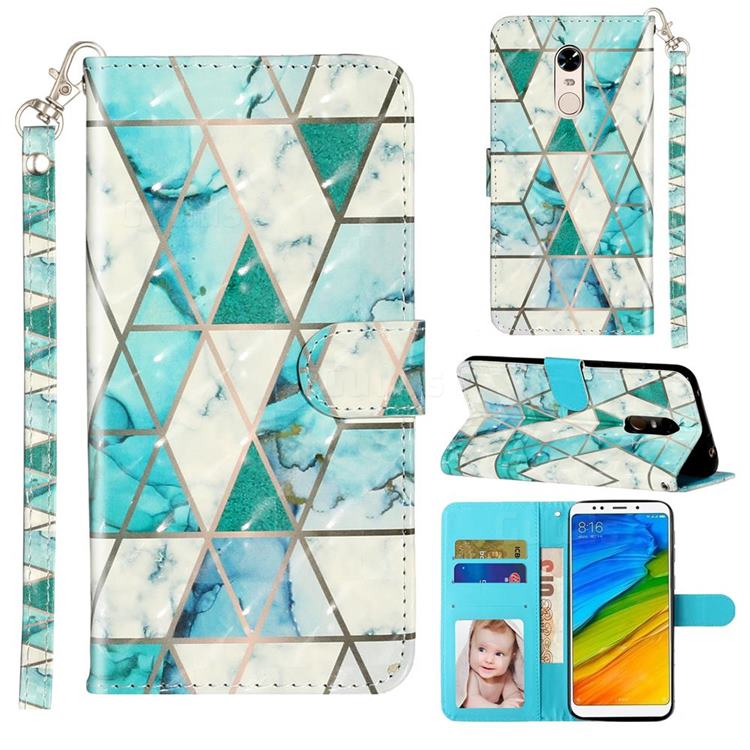 Stitching Marble 3D Leather Phone Holster Wallet Case for Mi Xiaomi Redmi 5 Plus