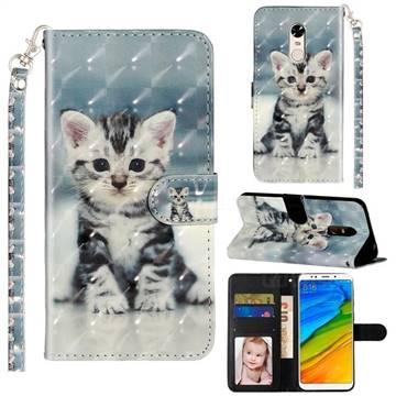 Kitten Cat 3D Leather Phone Holster Wallet Case for Mi Xiaomi Redmi 5 Plus