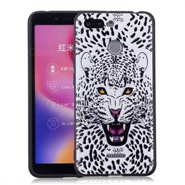 Snow Leopard 3D Embossed Relief Black Soft Back Cover for Mi Xiaomi Redmi 6