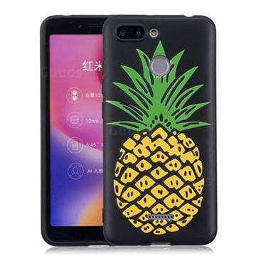 Big Pineapple 3D Embossed Relief Black Soft Back Cover for Mi Xiaomi Redmi 6
