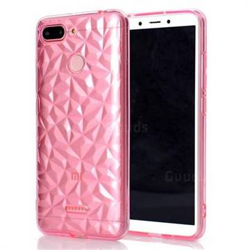 Diamond Pattern Shining Soft TPU Phone Back Cover for Mi Xiaomi Redmi 6 - Pink