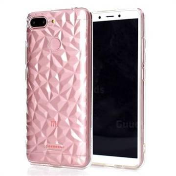 Diamond Pattern Shining Soft TPU Phone Back Cover for Mi Xiaomi Redmi 6 - Transparent