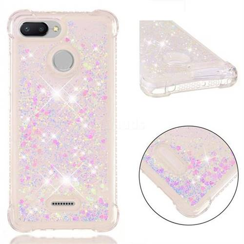 Dynamic Liquid Glitter Sand Quicksand Star TPU Case for Mi Xiaomi Redmi 6 - Pink