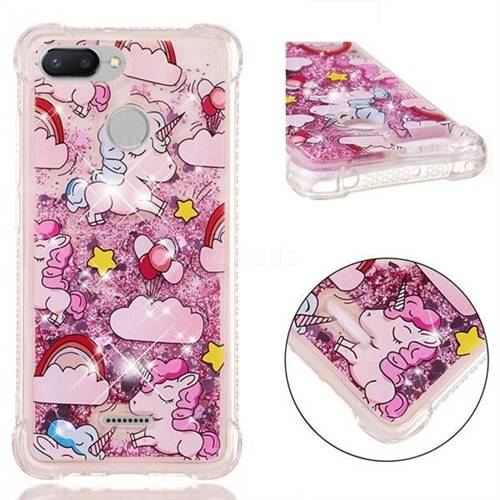 Angel Pony Dynamic Liquid Glitter Sand Quicksand Star TPU Case for Mi Xiaomi Redmi 6