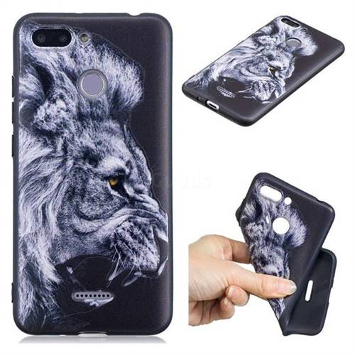 Lion 3D Embossed Relief Black TPU Cell Phone Back Cover for Mi Xiaomi Redmi 6