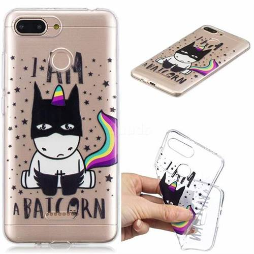 Batman Clear Varnish Soft Phone Back Cover for Mi Xiaomi Redmi 6