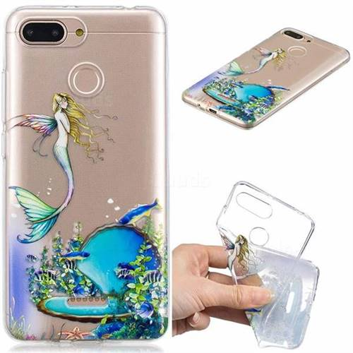 Mermaid Clear Varnish Soft Phone Back Cover for Mi Xiaomi Redmi 6