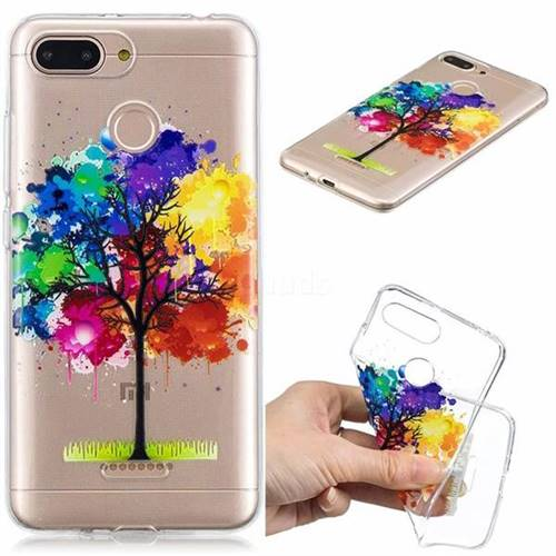 Oil Painting Tree Clear Varnish Soft Phone Back Cover for Mi Xiaomi Redmi 6