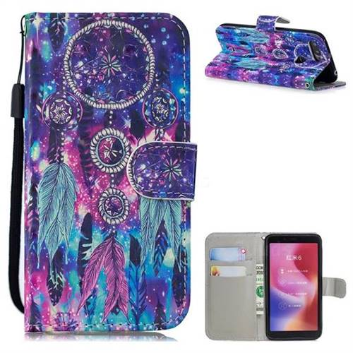 Star Wind Chimes 3D Painted Leather Wallet Phone Case for Mi Xiaomi Redmi 6