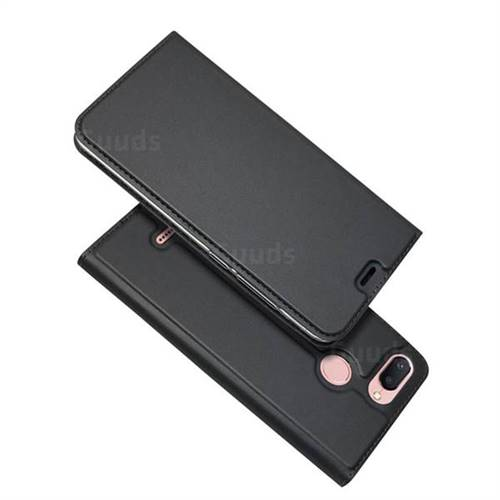 Ultra Slim Card Magnetic Automatic Suction Leather Wallet Case for Mi Xiaomi Redmi 6 - Star Grey
