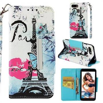 Lip Tower Big Metal Buckle PU Leather Wallet Phone Case for Mi Xiaomi Redmi 6