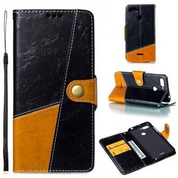 Retro Magnetic Stitching Wallet Flip Cover for Mi Xiaomi Redmi 6 - Black