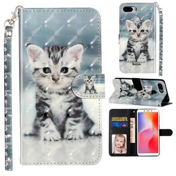 Kitten Cat 3D Leather Phone Holster Wallet Case for Mi Xiaomi Redmi 6