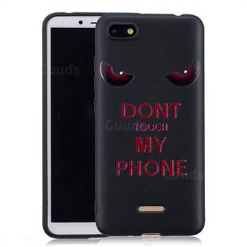 Red Eyes 3D Embossed Relief Black Soft Back Cover for Mi Xiaomi Redmi 6A