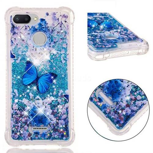Flower Butterfly Dynamic Liquid Glitter Sand Quicksand Star TPU Case for Mi Xiaomi Redmi 6A